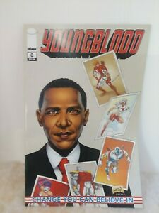 Youngblood #8 Barack Obama Cover Liefeld Cover & Art 2009 Image Comics