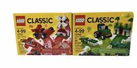 LEGO Classic Red & Green Creativity Boxes Building Kits New Sealed 2 Boxes