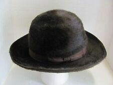 Vintage Lanvin Brown Fur Felt Hat 6-1/2 Made in Italy