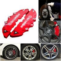 2x 250*65*40mm Car Wheel Brake Caliper Cover Front & Rear Dust Resist Medium Red