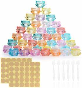 Herefun 64 Stück Leere Kosmetikbehälter Plastik Döschen Make Up Reisebehälte