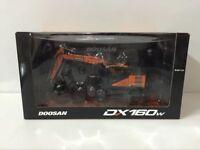 Rare!!! Doosan DX160W Wheeled Excavator 1/50 Scale Die-Cast Model UH8134 * NEW*