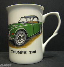1 TRIUMPH TR6 car Fine Bone China Mug Cup Beaker (green)