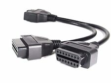 OBD2 OBD-II Splitter Adapter Extension 16 Pin Cable Male to Dual Female Y Cable