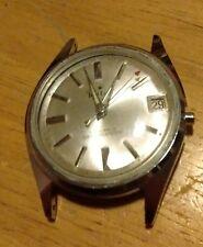 Vintage 1960-70's Rutex 17J date Men's wind-up Watch, not working 4U2FIX C