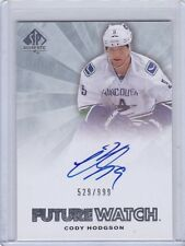 CODY HODGSON 2011-12 UPPER DECK SP AUTHENTIC FUTURE WATCH AUTO RC #529/999 #224