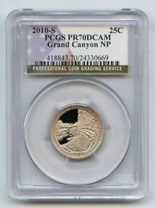 2010 S 25C Clad Grand Canyon Quarter PCGS PR70DCAM