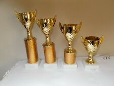 MULTI SPORTS -  1ST,2ND,3RD,4TH PLACE - GOLD CUPS - WITH FREE ENGRAVED PLATES