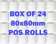 Carton/Box Thermal Cash Register Receipt Paper Rolls POS Docket Printers 80 80mm