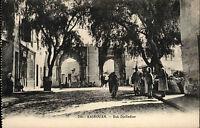 Kairouan Qairawān Tunesien Tūnisiyya ~1910 Bab Djelladine Einheimische Händler