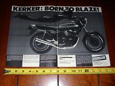 HONDA CB900 SUPER SPORT KERKER - ORIGINAL 2 PAGE AD
