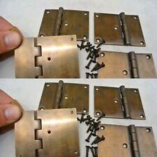 "8 cast hinges vintage age style solid Brass DOOR BOX restoration heavy 3"" B"