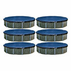 Swimline 33 Foot Heavy Duty Round Above Ground Winter Pool Cover, Blue (6 Pack)