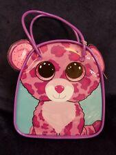Ty beanie boos Purple cat bag  hair accessories 6 pony-o's 4 barrettes