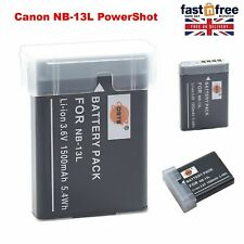 DSTE Spare Battery For Canon NB-13L Powershot G5X G7X G9X Mark II G9X HS A+ 3.6V