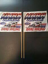 Vintage NHRA Championship Drag Racing Souvenir Flags