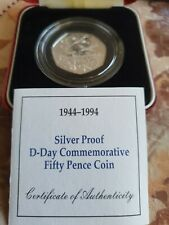 More details for 1994 uk silver proof 50p d-day commemorative coin