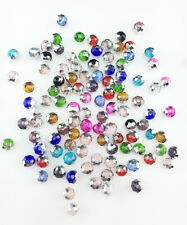 NEW Jewelry Faceted 100 pcs Silver Mix #5040 3x4mm Roundelle Crystal Beads !!!