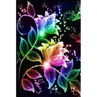5D DIY Full Drill Diamond Painting Flower Cross Stitch Kit Embroidery Mosaic LU7