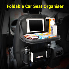Black Car Seat Back Multi-Pocket Leather Storage Bag Organizer Phone Holder hs