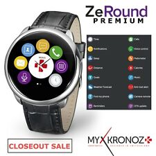 MyKronoz ZeRound iOS Android Voice Activated Touchscreen Leather SMART WATCH