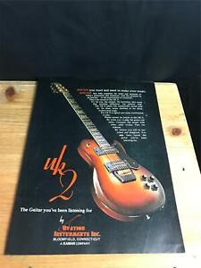 1979 VINTAGE 8X11 PRINT Ad OVATION GUITAR SOLID BODY UK II / UK 2 BROWN