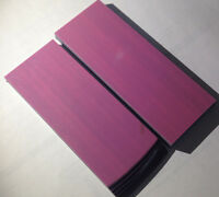 MAKE A KNIFE BLANK handle material PINK AND BLACK G-10