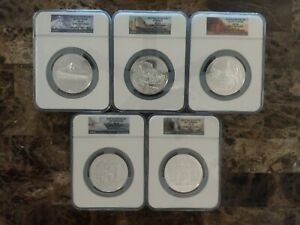 2010 5 oz American the Beautiful Set, NGC MS68 Early Release