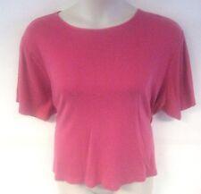 Jennifer Moore JM Collection Women's Shirt Pink Short Sleeve Plus Size 3X XXXL