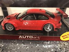 AUTOart BMW M3 GTR Nurburgring 2005 Plain Body Version (Red) 1/18 *BRAND NEW*