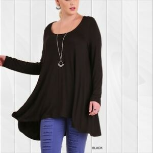 LIQUIDATING!!! UMGEE Soft Long Sleeve Black Tunic Shirt Blouse XL or 1XL New