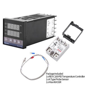 Termostato Digitale REX-C100 PID Interruttore Termoregolatore0℃-1300℃ Allarme