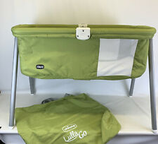 Chicco Lullago Folding Baby Travel Cot With Detachable Legs Green good cond