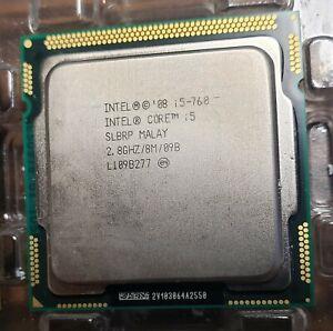 Intel Core i5-760 SLBRP 2.8Ghz LGA 1156 Quad Core  Desktop CPU Processor