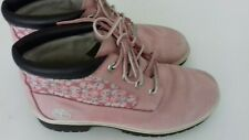 Genuine Timberland Pink Leather Ankle Boots Size UK 5 - Good Condition
