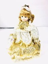 Heritage House Ltd Edition 19450 Porcelain Musical Doll Ribbons Bows Jewelry box
