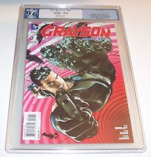 Grayson #1 (New 52) - PGX NM+ 9.6 - rare Mikel Janin variant cover