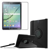 Housse Etui Noir pour Samsung Galaxy Tab S2 9.7 SM-T810 + Vitre de protection