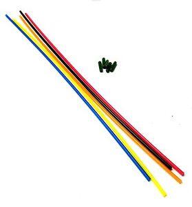Receiver Reciver Aerial Tube Plastic Antenna Pipe Dark Green Cap Mixed x 5 30cm