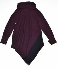 Alfani Cowl-Neck Asymmetrical-Hem Sweater New Wine Size L