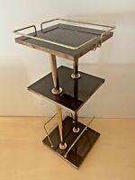 TABLE D APPOINT, BOUT DE CANAPÉ VINTAGE ANNÉES 60,70', FORMICA LAITON, DECO CHIC