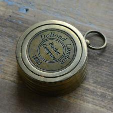 Sundial Compass Calendar Pendant, Antique Brass, Nautical, Heavy Duty,