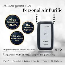 20 Millions Nagative ion Mini Ionic Personal wearable Air Purifier Virus,Pollen