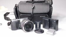 SONY NEX C3 16.2 MEGA PIXEL DIDITAL CAMERA W/18-55mm LENS/FLASH/CASE/CHARGER..