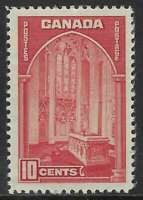 Scott 241 - 10c dark carmine 1938 Memorial Chamber Issue, light crease, VF-NH