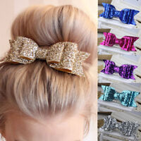 Sparkling Glitter Hair Bow Bobble/Alligator Clip Girl/Baby Party Bling Bows Gift