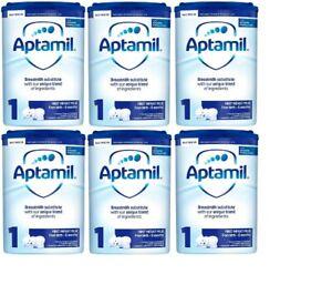 Aptamil 1 First Milk 800g Box Of 6 Tins Sealed Brand New Very Long Expiry Date