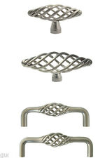 Satin Nickel Birdcage Kitchen Cabinet Drawer Knobs Pulls  60 76 96mm