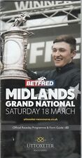 Racecard - Uttoxeter 1th March 2017 Midlands Grand National
