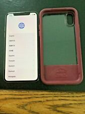 Apple iPhone X Mqcl2Ll/A 64G Silver Unlocked with OtterBox Red Otter Box